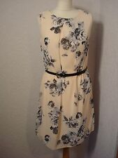BNWT Atmosphere pale pink & grey floral chiffon dress with belt 12