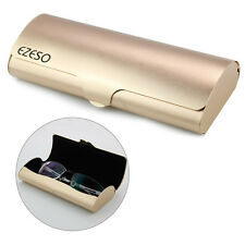 HOT! Hard Glasses Case Protable Eyeglasses Spectacle Cases Box Protector Golden