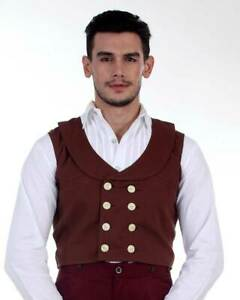 Men's Double-Breasted Engineer Vest Steampunk, High quality hand crafted!