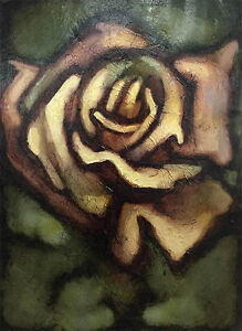 """David Martin """"Floral Study III"""" Signed Original Oil Painting on Paper, 27"""" x 37"""""""