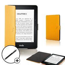 Forefront Custodie Giallo Smart guscio Cover per Amazon Kindle Voyage + Stilo