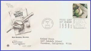 USA5 #3191a ADDR PCS ARTCRAFT FDC 1990s New Baseball Records