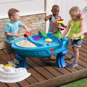 Step2 Fiesta Cruise Sand & Water Summer Center Kids Water Activity Table W/ Lid
