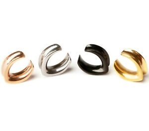 Elegant V horseshoe saddle tunnel in Gold, Silver Black and Rose Gold.