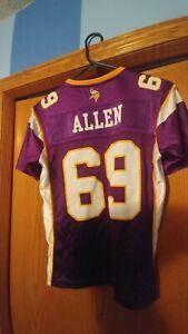 NWOT SWEET! Jared Allen Minnesota Vikings #69 Reebok On Fieeld Jersey Youth M 🏈