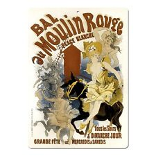 "Bal Du Moulin Rouge Vintage French Advert Mini 5"" x 7"" Metal Sign"