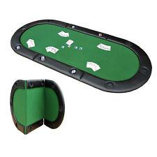 Homcom 200x90cm Foldable Poker Table Top 10 Players Blackjack Casino Cards