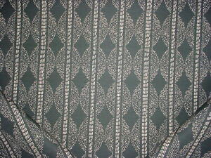 1-5/8Y Lulie Wallace Sophie Black Brown Southwest Ikat Print Upholstery Fabric