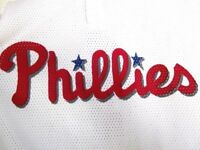 Vtg Phillies #4 Jersey Mesh Shirt Teamwork Athletic Apparel USA L MLB Dykstra