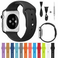 Replacement Sports Silicone Watch Strap Band For Apple iWatch Series 4 3 2 1 US