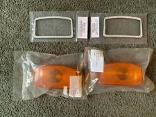 1955-1956 FORD F100 TRUCK AMBER PARKING LAMP LENSES AND GASKETS NEW (PAIR)