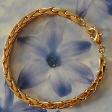 Dolly-Bijoux Bracelet Maille Palmier 19 cm - 5 mm Plaqué Or 18K 5 Microns