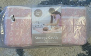 Trend lab Pink XO Hugs Kisses Nursery Diaper Storage Caddy