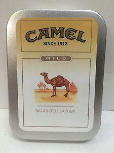 Camel Mild Retro Advertising Brand Cigarette Tobacco Storage 2oz Hinged Tin