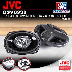 "JVC CS-V6938 DRVN Series 6""x9"" 3-Way Coaxial 400W Speakers System"