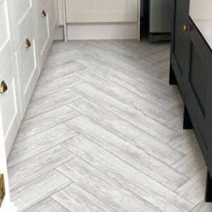 Light Grey Wood Effect Full Body Porcelain Tiles 120X20 Realistic Wood Texture