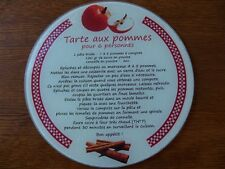 Planche à découper ronde tarte aux pommes