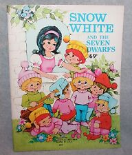 Landoll Snow White And The Seven Dwarfs Coloring/Activity Book Unused