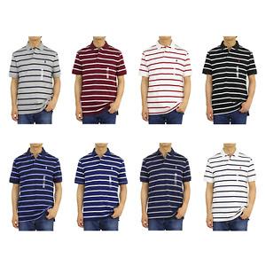 Polo Ralph Lauren Medium Fit Soft-Touch Border Striped Short Sleeve Polo Shirt
