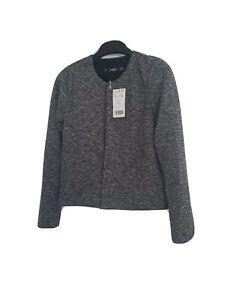 Mango basics  Ladies Grey Jacket  Chaqueta Pony Uk Size XS Bnwt