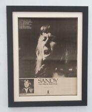 SANDY DENNY*Album*Tour*1972*RARE*ORIGINAL*POSTER*AD*FRAMED*FAST WORLD SHIP