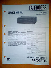 Sony TA-F606ES Service Manual (original) Used
