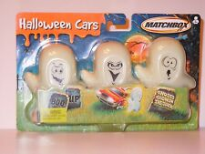 MATCHBOX COLLECTIBLES HALLOWEEN GHOSTS GLOW IN THE DARK SET OF 3 CARS 1:64!!