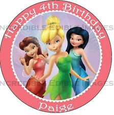 Tinkerbell Edible ICING Cake Topper Party Decoration