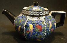 Vintage Royal Doulton Art Deco Blue Chinz Persian Parrots Tea Pot D4031 Very Gd