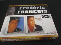 """COFFRET 2 CD """"FREDERIC FRANCOIS : JE N'T'OUBLIE PAS / LES ROMANCES DE TOUJOURS"""""""