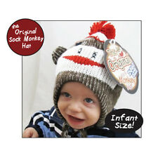 The Original Sock Monkey Hat Baby Infant Size