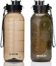 Outdoor Sports Water Bottle 32oz w/ Time Marks Camping Gym Workout Supplies