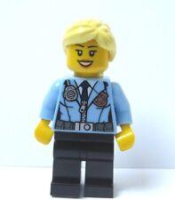 Lego City Girl Female Minifigure Figure Blonde Hair Police Woman Officer
