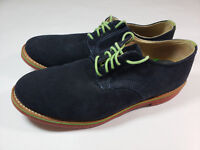 Walk-Over Men's Shoes Suede Leather Lace Up Oxfords Sz 10 M Navy Blue Green