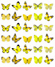 Yellow Butterflies 30 Cupcake Toppers Edible Wafer Paper Fairy Cake Toppers