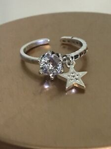 Silver Plated Dangle Ring