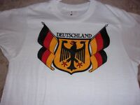 Germany,German Deutschland Flag Color Crest,Black Red Gold,T-Shirt,. Sz. Small