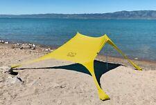 Shades Large Beach Shelter Yellow | Sun Shade