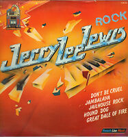 """JERRY LEE LEWIS """"ROCK"""" 70'S DOUBLE LP FRENCH LINE MUSIC 06, SUN SESSIONS !"""