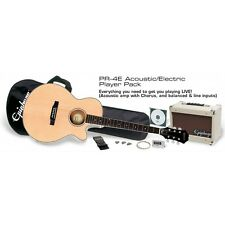 Epiphone PR-4E Acoustic-Electric Cutaway Guitar Package Amp, CD, Strap, Strings
