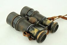 antique Field Binoculars ca.1890, Voigtlander Braunschweig 4x, sliding suncaps
