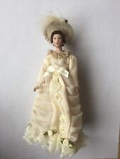 Dollhouse Victorian Lady Doll in Peach Gown