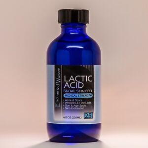 4 oz LACTIC Acid Skin Peel- 25% - For: Acne, Scars, Wrinkles, Melasma, Age Spots