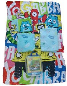 Yo Gabba Gabba Toddler Crib Bedding Set Fitted and Flat Sheet Pillowcase Blanket