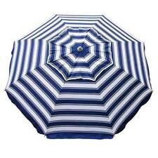 BEACHKIT Daytripper Beach Umbrella Navy & White Stripe 210cm 98% UV Protection