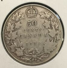1932 Canada Half Dollar - Key Date Fifty Cents Coin