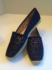Vince Camuto VC-Daegan Midnight Navy Nubuck Leather Suede Flats Womens Sz 10 M