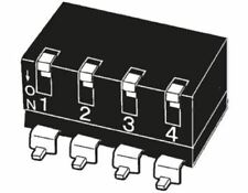 4 Way Surface Mount DIP Switch SPST, Lever Actuator