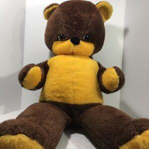 Plush Stuffed Rushton Teddy Bear Jumbo Good Condition Vintage