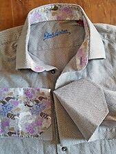 ROBERT GRAHAM Flip Cuff Link Shirt Skulls KNOWLEDGE WISDOM TRUTH Embroidery 39 M